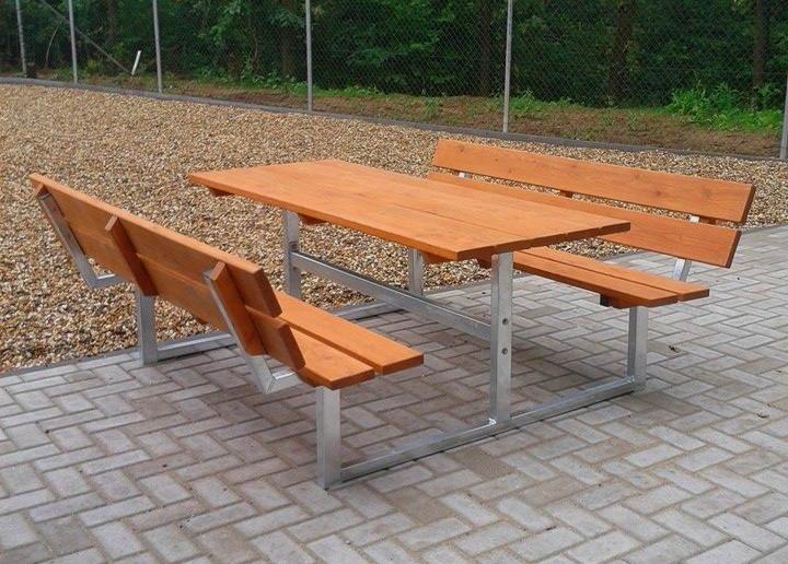 picknick tisch bank mit lehne tische park stadtm bel lars laj 14144. Black Bedroom Furniture Sets. Home Design Ideas